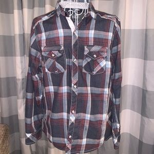 Boys Buckle BKE Plaid Shirt Sz. 14-16